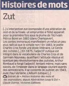 Zut !! dans Coupures de presse er143