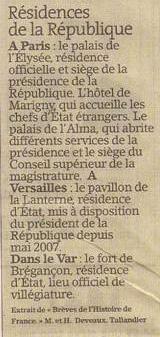 Les Résidences de la République dans Coupures de presse er147