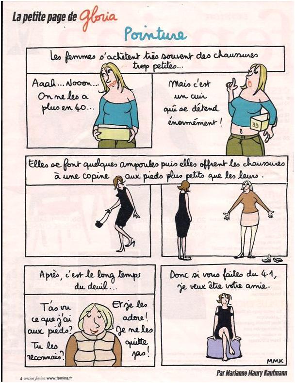Les femmes et les chaussures dans Coupures de presse gloria-43