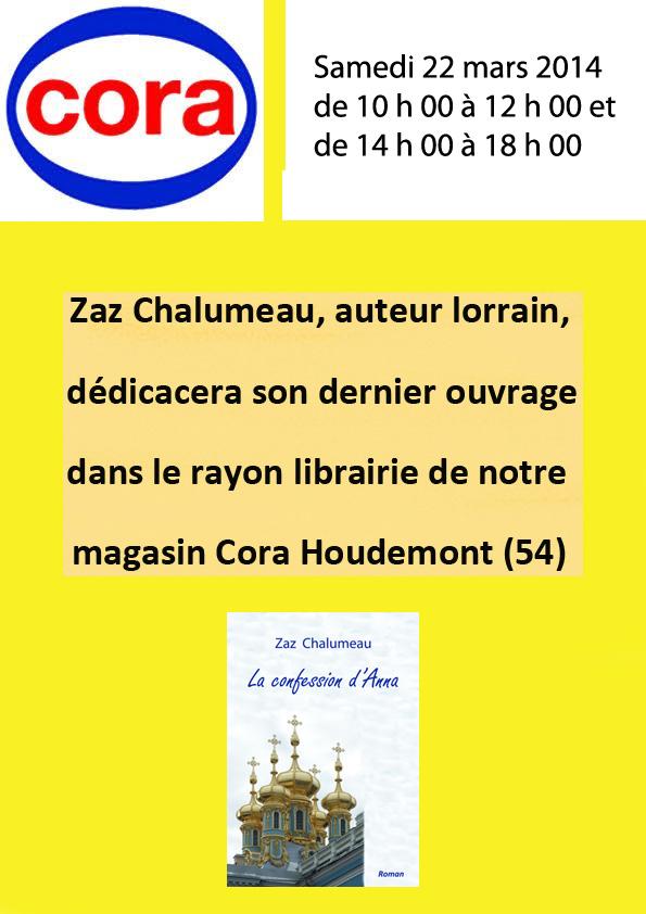 Affiche Cora mars 2014