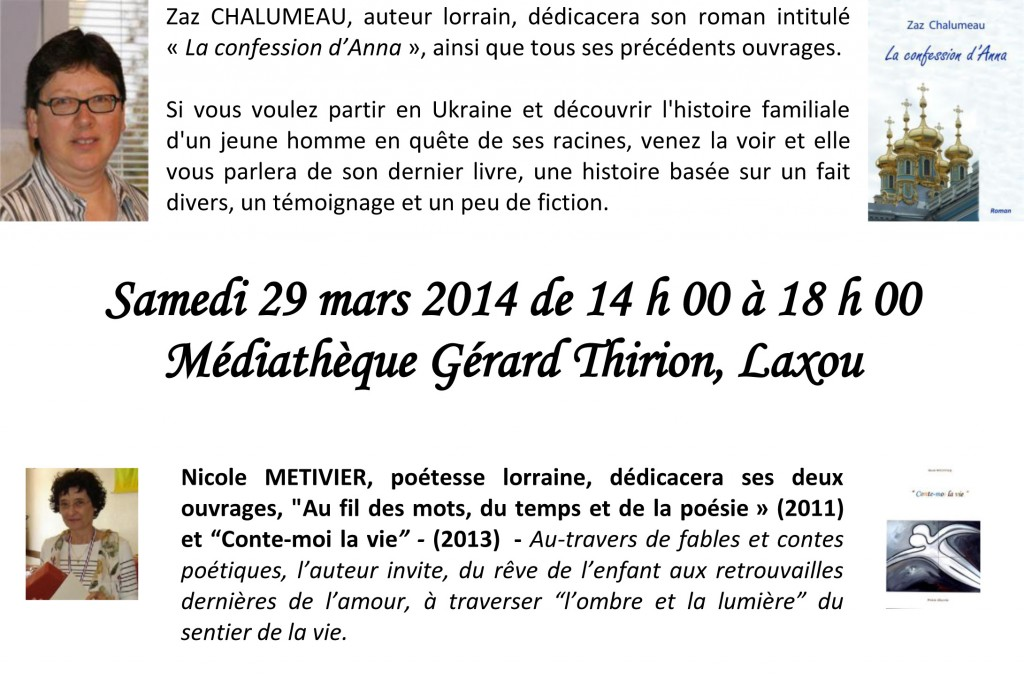 Affiche Médiathèque Laxou 2014