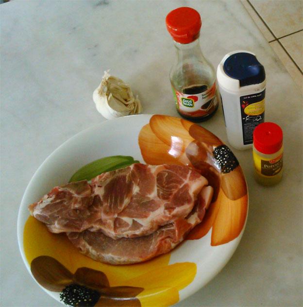 Recette côtes de porc soja 1