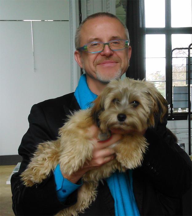 Jacques Franche et sa chienne Socquette