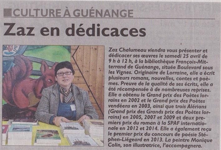 Dédicaces Guénange 2015