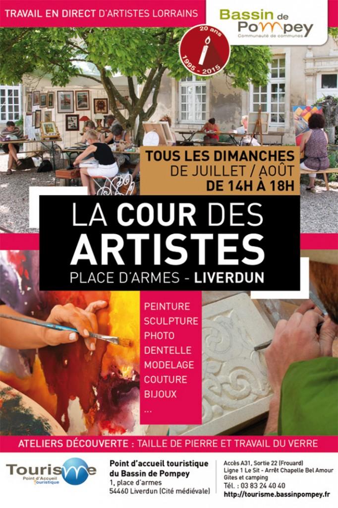 Affiche Liverdun 2015 Cours des artistes