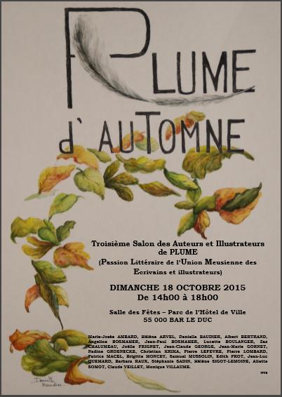 affiche Plume d'Automne 2015