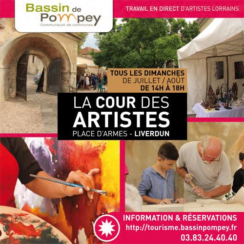Affiche Cour des Artistes Liverdun 2016